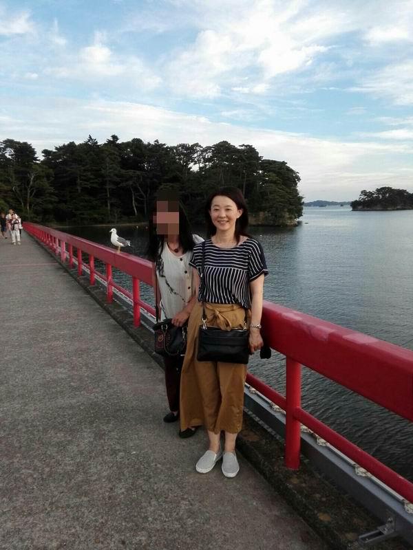 福浦橋にて