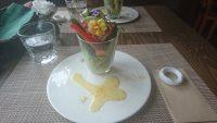 レストラン「ブラーノ」のブーケ風サラダ